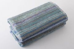 Eco Friendly Multi Stripe 100% Cotton Recycled Towel